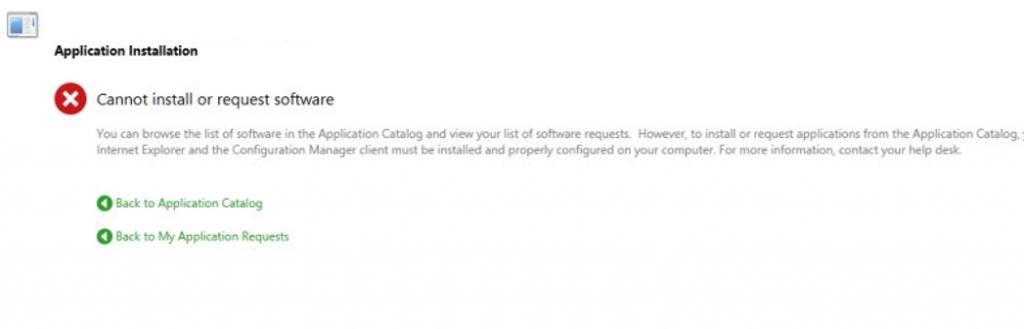 AppCatalog install error